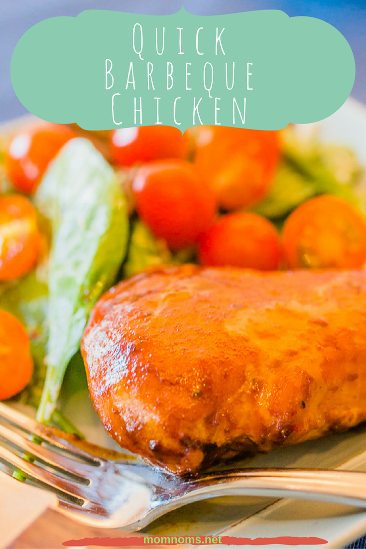 Quick and easy barbeque chicken for those days that you really don't have it in you to cook a full meal. It's sweet, tangy, moist, with a slight kick. Perfect for your family's new weeknight meal