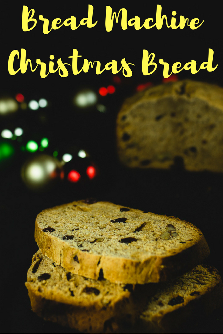 Ingredients ----  Bread ---  1 cup milk  1/4 cup butter softened  1 egg  3 1/4 cups flour bread  1/2 cup granulated sugar  1/4 cup brown sugar  1/2 tsp salt  2 tbs cinnamon  1/2 tsp nutmeg  1/4 tsp ground cloves  1/4 tsp mace  2 1/4 tsp yeast  1/4 cup currants  1/2 cup chopped walnuts  Cinnamon Butter ---   1/2 cup butter softened  1 tbs cinnamon  1 tbs honey  1/2 tsp packed brown sugar  more on MomNoms.net