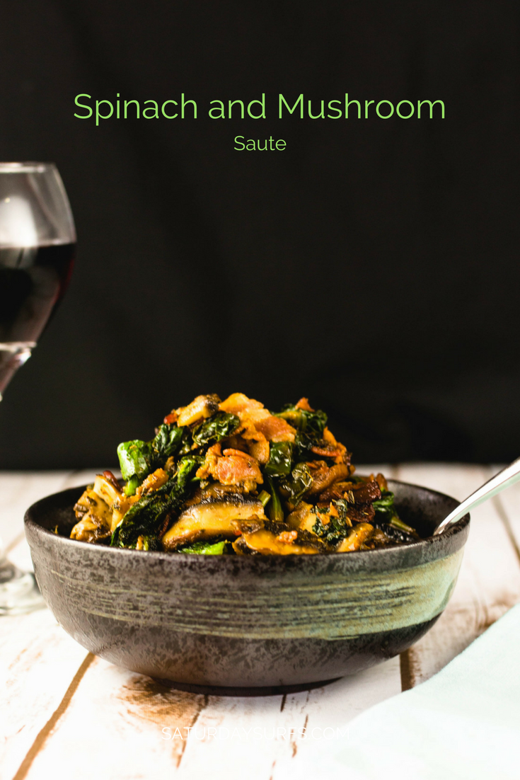 Spinach and mushroom saut giveaway san franciscocheffood i really like having another day to give you guys awesome recipes plus it lets me be creative and come up with new themes that i didnt think of before forumfinder Images