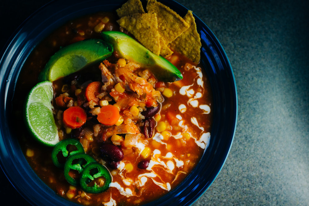 instant pot chicken lime tortilla soup