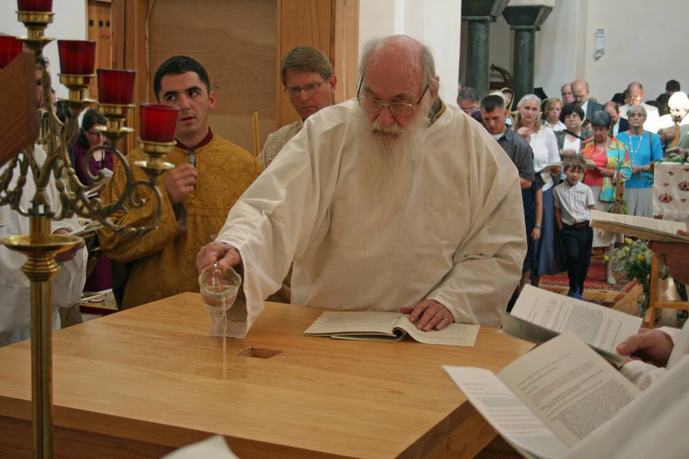 Archbishop Dmitri of Blessed Memory at the 2008 Consecration of Holy Ascension.