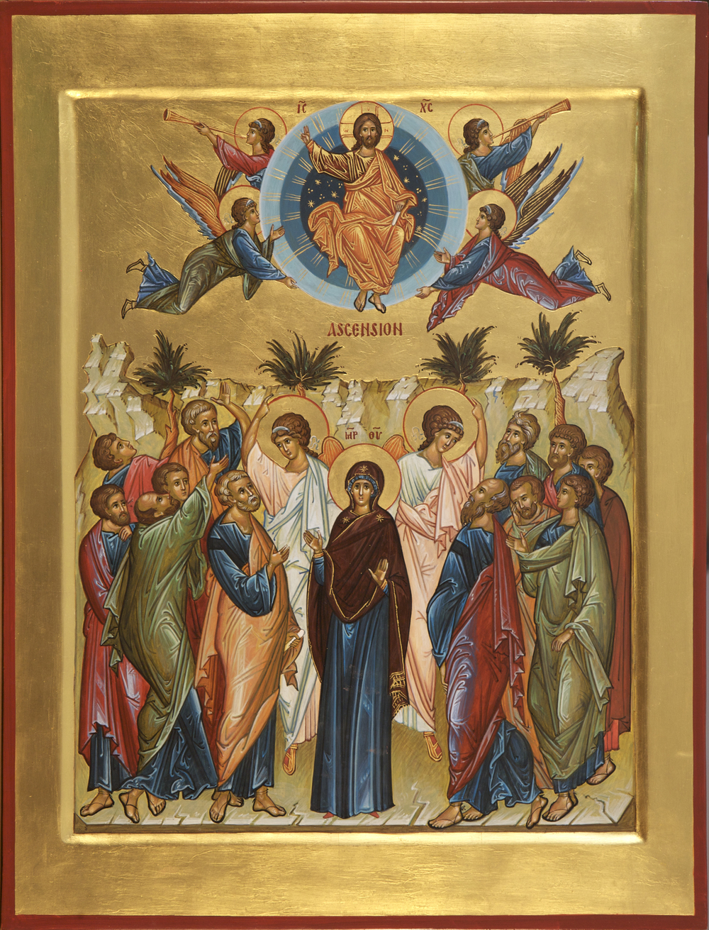 """O Christ God, You have ascended in Glory,     Granting Joy to Your disciples by the promise of the Holy Spirit,       Through the blessing they were assured,     That You are the Son of God,   the Redeemer of the World!"""