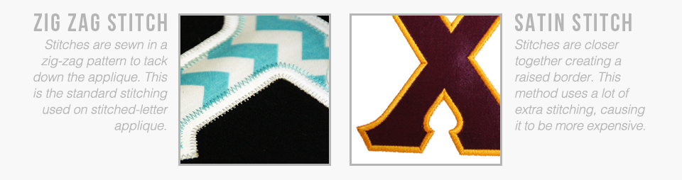 Zig Zag Stitch vs Satin Stitch