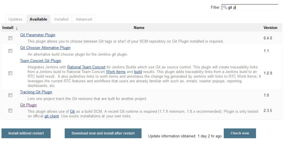 Jenkins Install Plugin