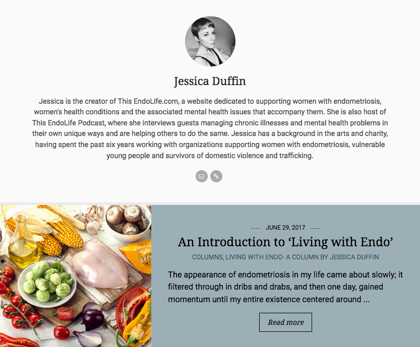 Livingf with Endo Column in Endometriosis News