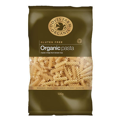 Doves Organic Gluten Free Brown Rice Fusili Pasta
