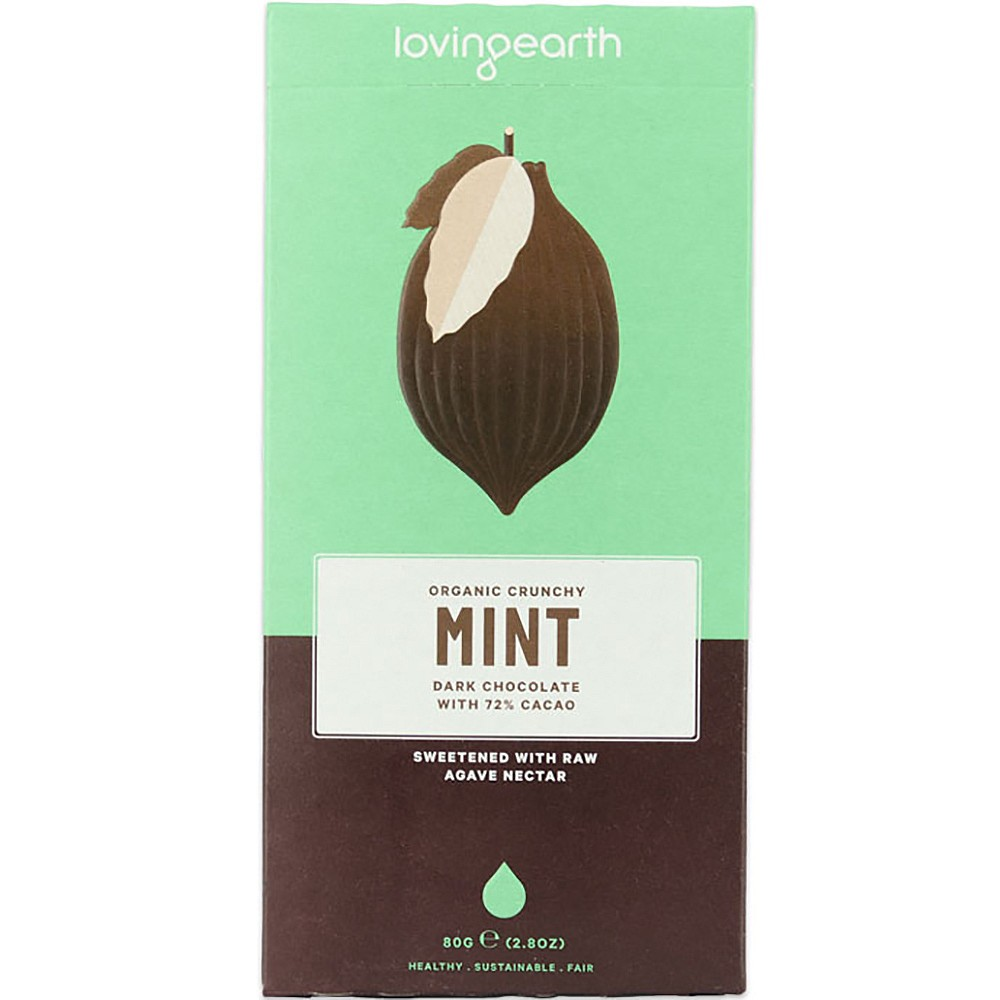 Loving Earth Crunchy Mint Dark Chocolate