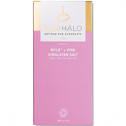 Raw Halo Mylk + Pink Himalayan Salt Chocolate