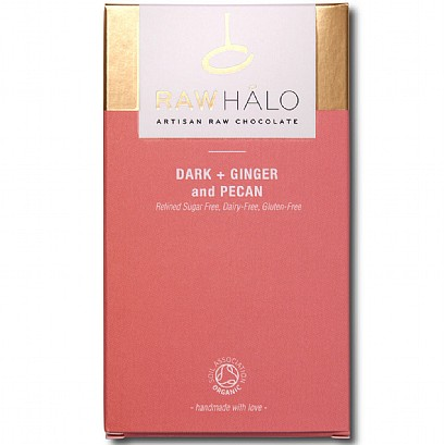 Raw Halo Dark + Ginger and Pecan Chocolate