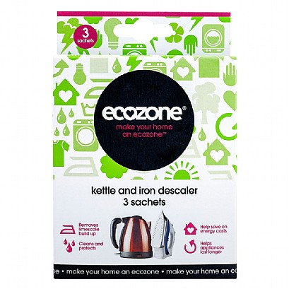 Ecozone Kettle and Iron Descaler 3 Sachets