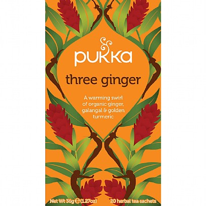 Pukka Organic Three Ginger Tea (20 Bags)