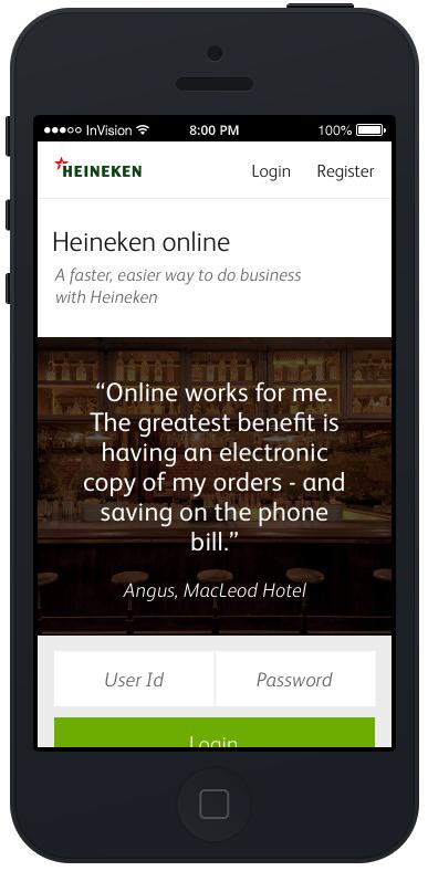 Heineken-mobile-design