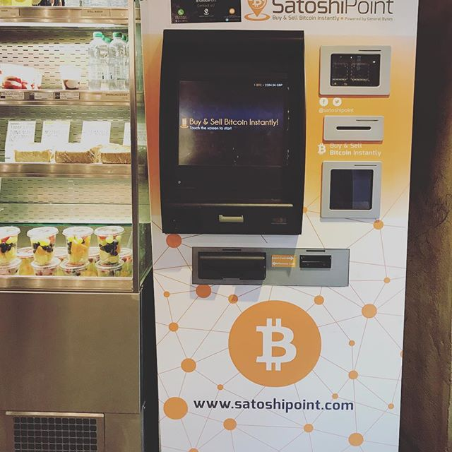 And next to the super food wraps and vegan snacks is your handy bitcoin vending machine. If you've got £2500 of change rattling around your pocket then you can pick up a bitcoin (yes, just one at that ex. rate) with your flat white. . #bitcoin #eastlondon #owlandgiraffe #money #digitalcurrency #technology #finance