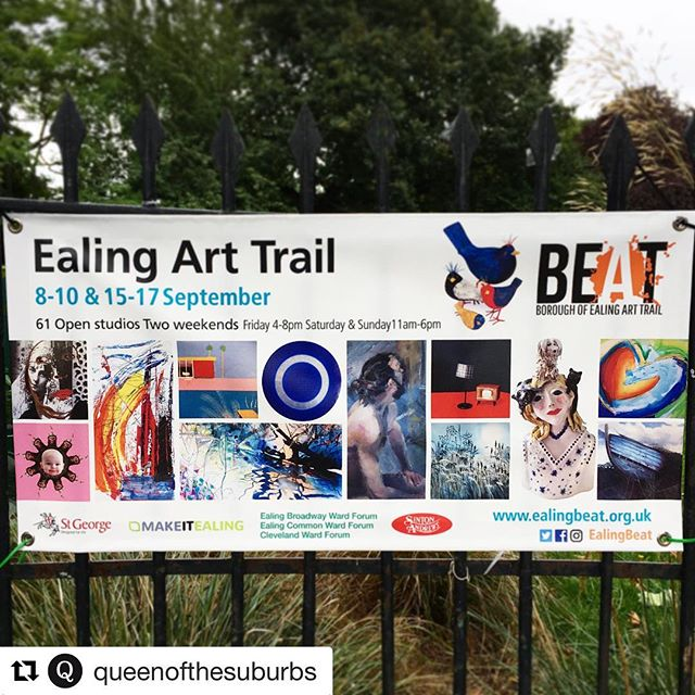 #Repost @queenofthesuburbs (@get_repost) ・・・ Looking forward to the 2017 Ealing Art Trail kicking off this weekend. Jam-packed full of work from local artists, to admire, inspire and acquire! Devise your route using the downloadable brochure on Ealing Beat's new and improved website ealingbeat.org.uk (created by the brilliant @owlandgiraffe). Or pick up printed brochures from venues throughout Ealing.  As ever, let us know your recommendations. #ealing #queenofthesuburbs #ealingbeat #ealingarttrail #loveealing #ealingart