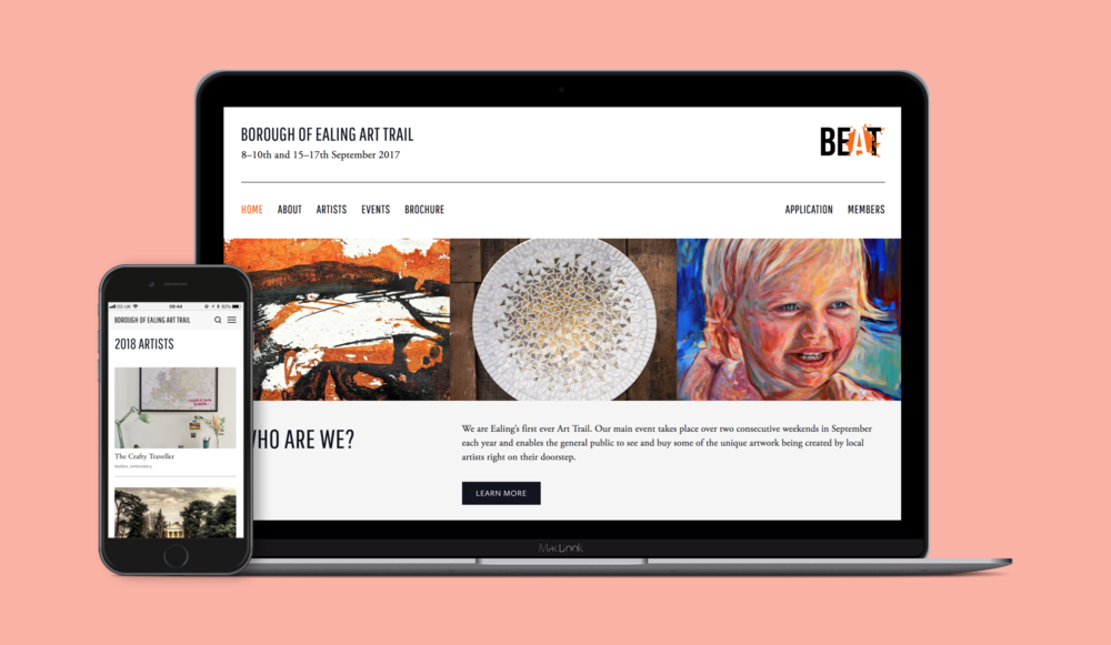 Ealing BEAT Website design and build