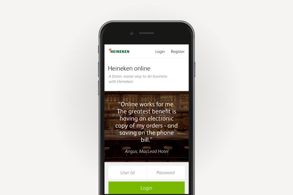 Heineken Mobile experience strategy