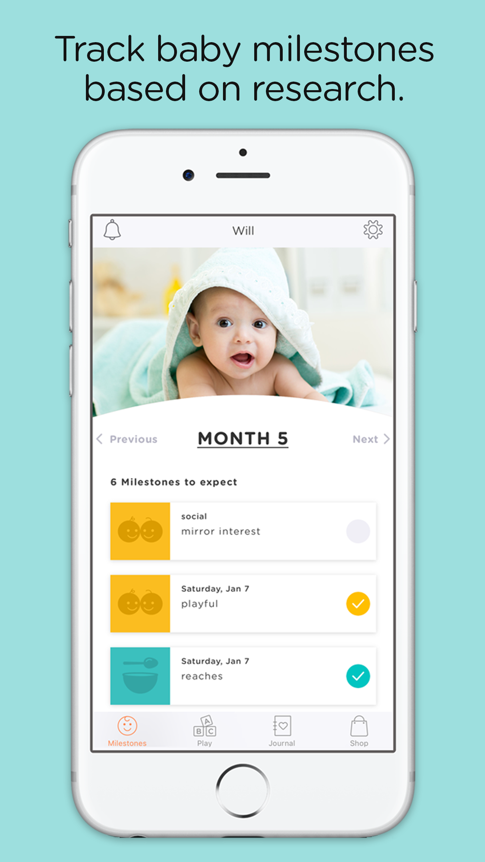 Proud to announce a new App that uses our developmental milestones: WeeSchool.com
