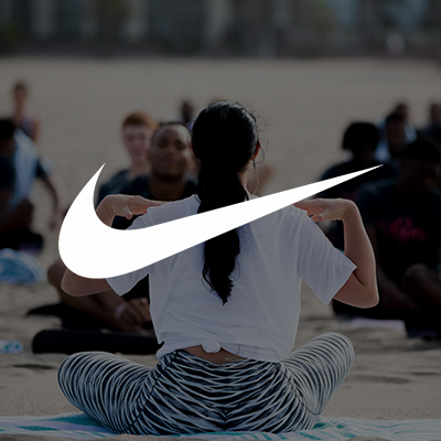 Claire's experience with Nike Skills Academy guiding group yoga sessions on the beach.