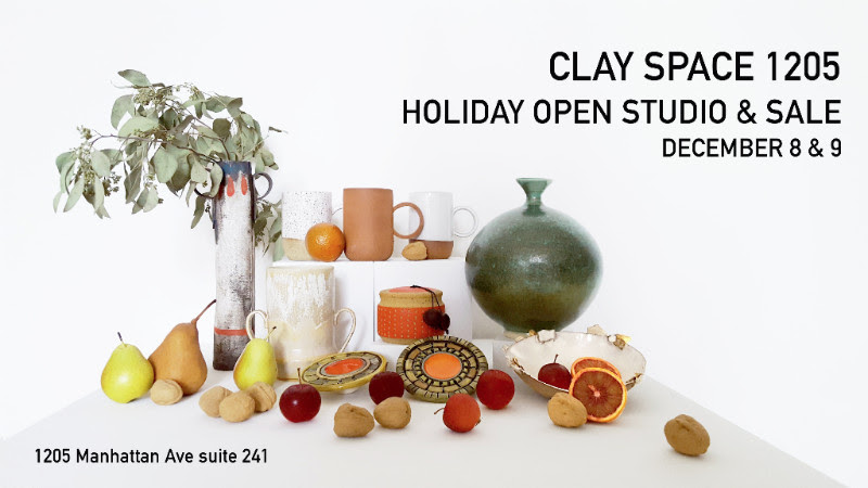 Join us on December 8th and 9th for our Annual Holiday Open Studio & Sale. Come pick up beautiful one of a kind gifts from stocking-stuffers to stunning presents suitable for everyone on your list. Meet our members and see all the magic we make every day.  HOLIDAY SALE FRIDAY DECEMBER 8 | 6-9 p.m. SATURDAY DECEMBER 9 | 11-7 p.m.