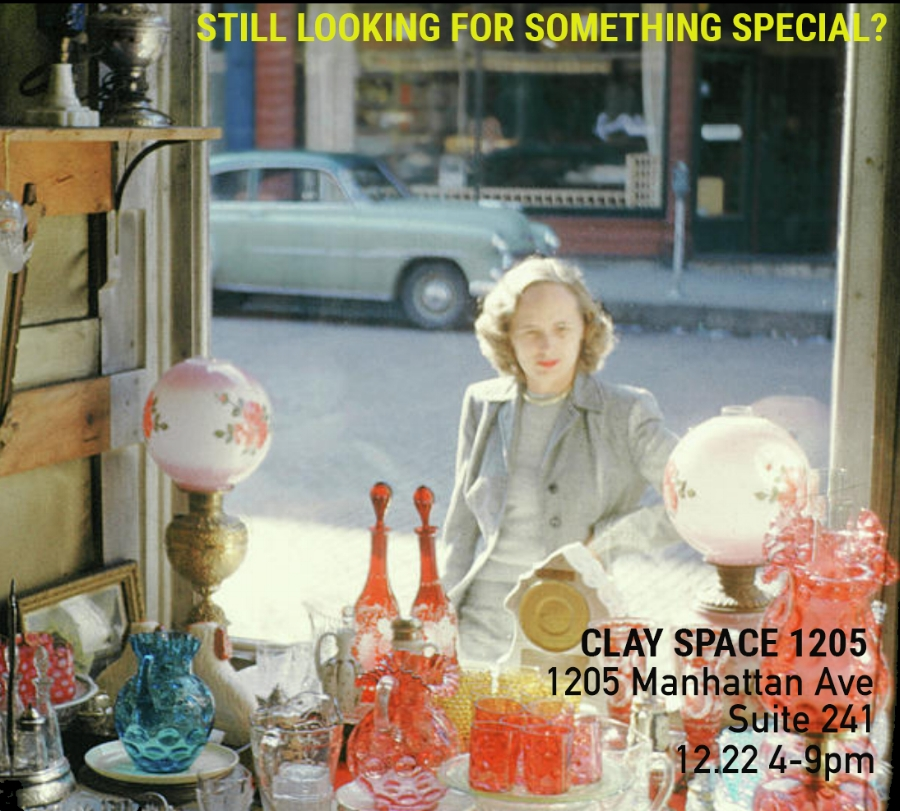 THERE'S STILL TIME TO FIND IT WITH US! Seeing family in January? Got invited at the last minute? Still looking for that perfect something? Been tooooo busy? We all have reasons for having not getting all the gifts yet! Clay Space would like to help you out.... we will open our doors for one last 2017 sale on Friday December 22nd from 4-9 pm for you to shop and say hi. Many, many lovely items priced at under 50 bucks (and some $25 and under)! Don't worry we can wrap that up too! Help us joyously close out 2017. LAST BLAST HOLIDAY SALE FRIDAY DECEMBER 22 | 4-9 p.m.