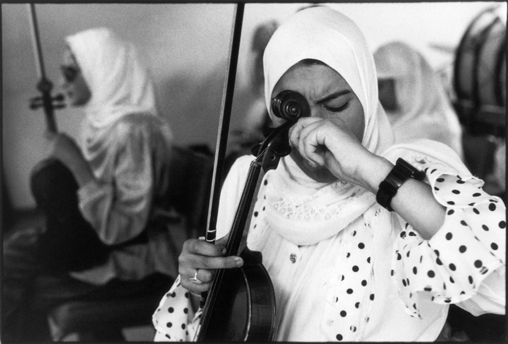 Blind girls orchestra, Cairo, Egypt