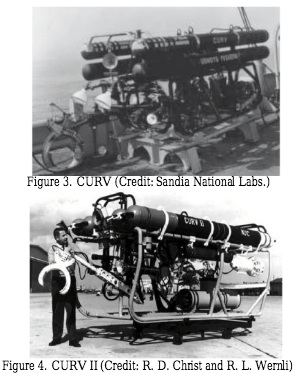- CURV I and CURV II, developed by US Navy.