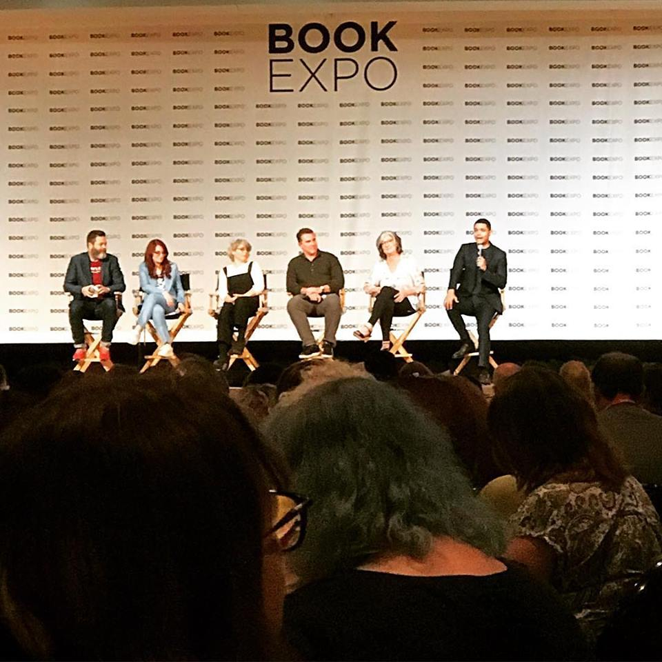 Adult Author Panel with Nick Offerman, Megan Mulally, Jill Lepore, Nicholas Sparks, Barbara Kingsolver, and Trevor Noah BEA 2018