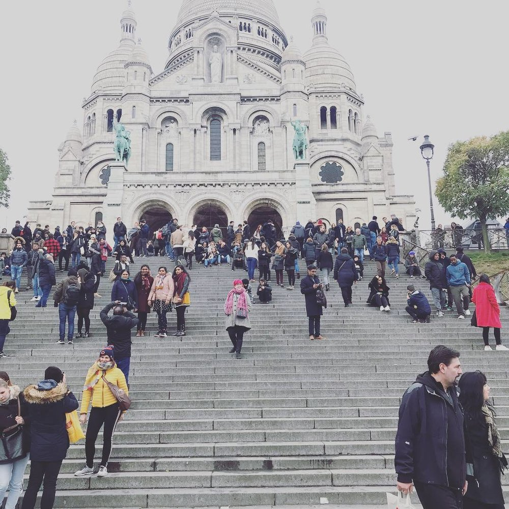 Where's Madge-y? Just a small smattering of the stairs in Montmartre.