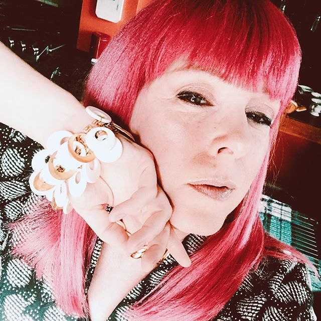 No words, as I shall let my smize speak for me.  Or maybe I'm squinting.  Six of one... #agingdisgracefully #styleafter50  ##instagramover50 #smize #dontfuckwithmefellas #pinkhairdocare #vintagejewelry  #iwillwearwhatplease #fabover50 #over50andfabulous #over50andfearless #fiftyandotherfwords
