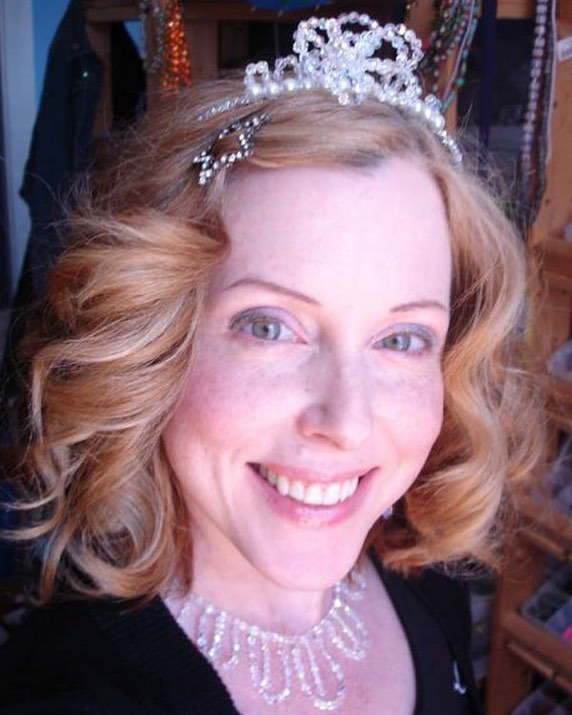 #TBT Hard to believe this was 10 years ago! Wearing a me made tiara and necklace. Time keeps on slipping into the future. * * #agingdisgracefully #wayback #fabover40 #throwbackthursday #rockabillystyle #sparkle #swarovski #womanofsubstance #tiara