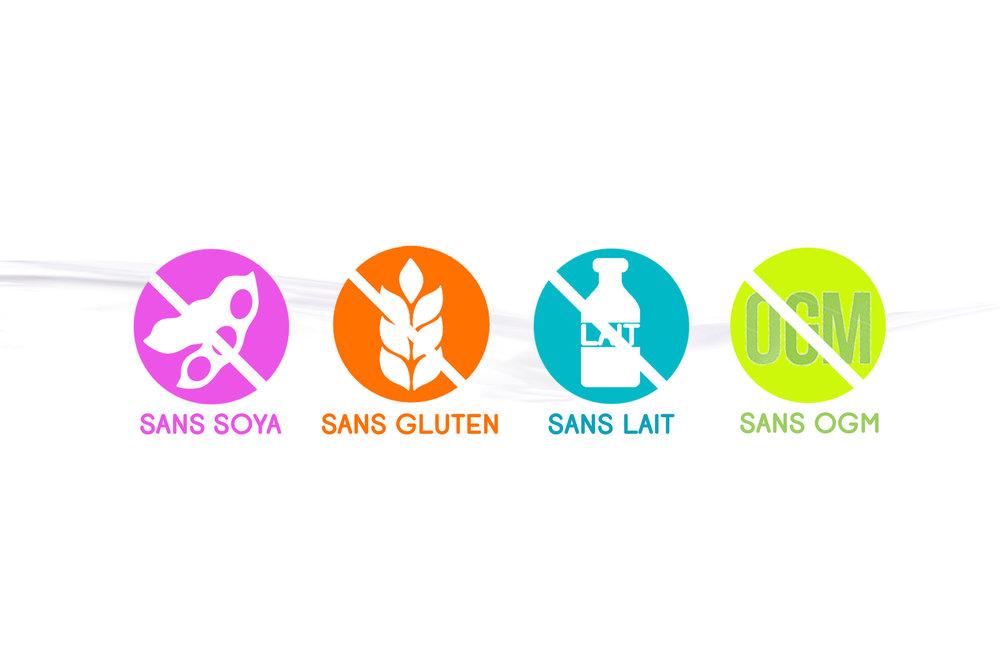sans soya sans gluten sans lait sans ogm