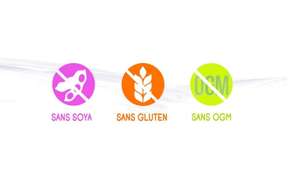 sans soya sans gluten sans ogm