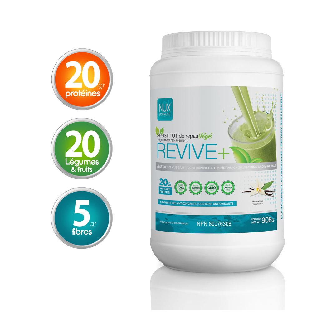 REVIVE+ Végétalien avec enzymes digestives