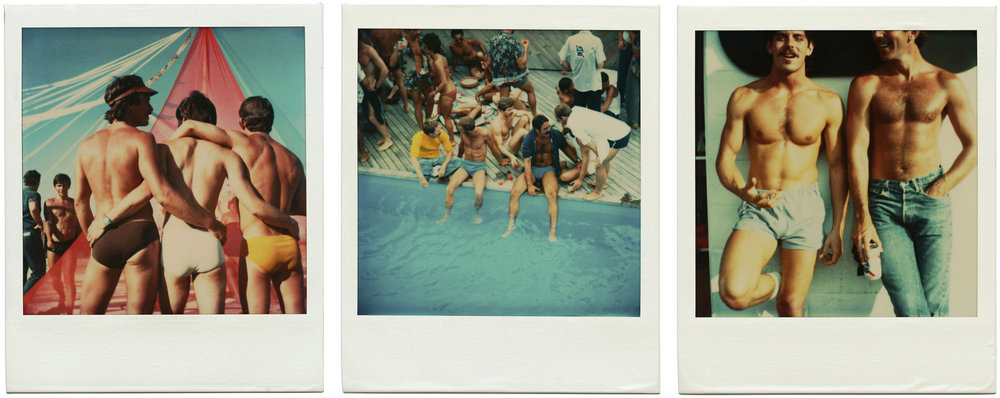 """Polaroids from """"Fire Island Pines"""" by Tom Bianchi"""