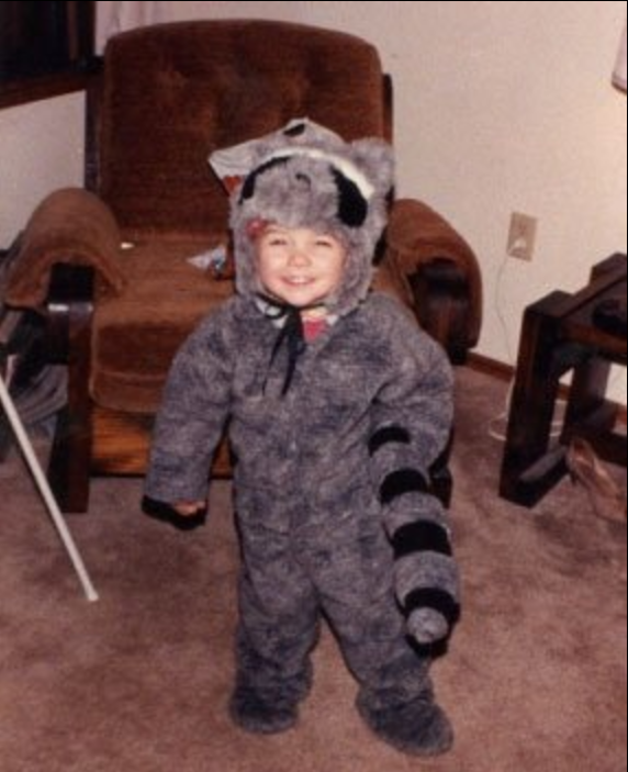 Old school bonus 2: racoon at age 3