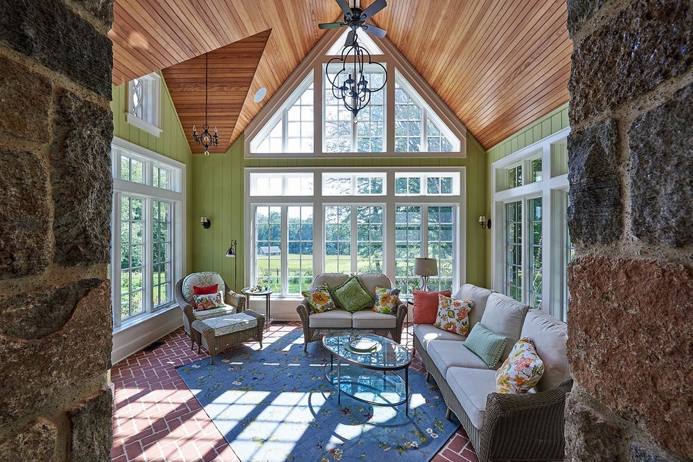 Sun room by Susan Rochelle Architect