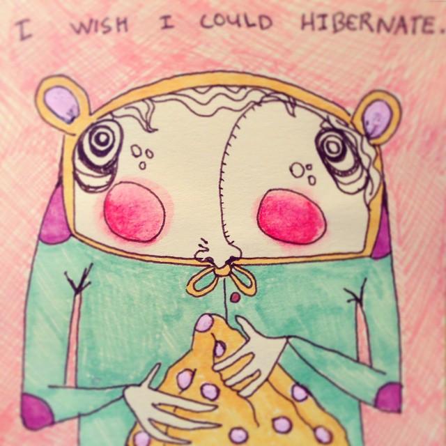 #likeabear 🐻 #seeyouinafewmonths #hibernation #sleepingforever #naps #blanket #art #illustration #drawing #quicksketch #penandink #characterdesign #littleworthies #littleworthy #postitpeople #postitnote #postits #postitart #postitdoodle #postitnoteart #cute #odd #elbowpatches