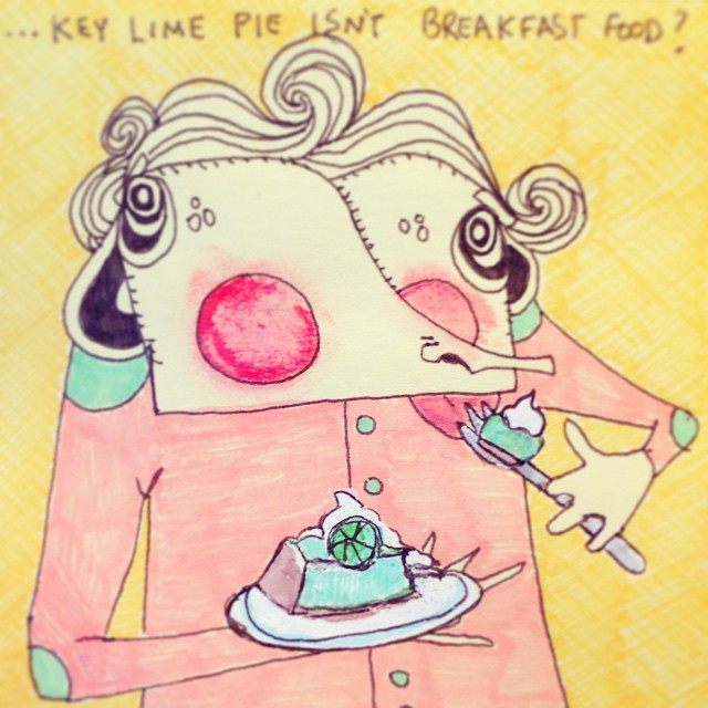 #areyousure ? #breakfast #food #keylimepie #allday #everyday #butmostlyforbreakfast #dontcare #dietbreaker #art #illustration #drawing #quicksketch #penandink #characterdesign #littleworthies #littleworthy #postitpeople #postitnote #postits #postitart #postitdoodle #postitnoteart #cute #odd #elbowpatches