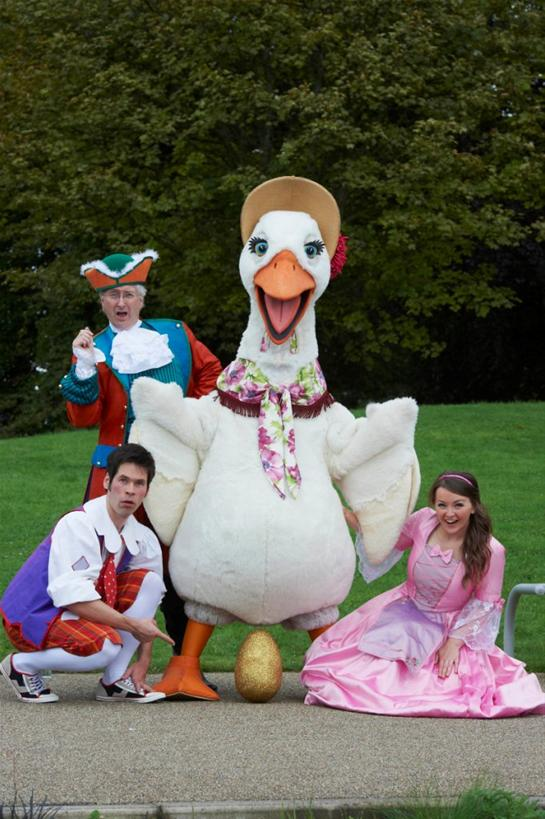 The cast of Mother Goose, Eden Court, Inverness 2012