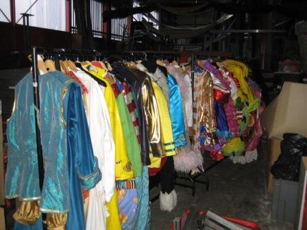 These are the costumes from Dick Whittington, at the Belgrade Theatre, Coventry.