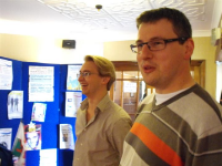 The two wise directors - Rob and Steve comtemplate life, the universe, and just what is going on in the photograph being taken behind the theatre box office... you'llhave to see what was happening when we get the official photos out!