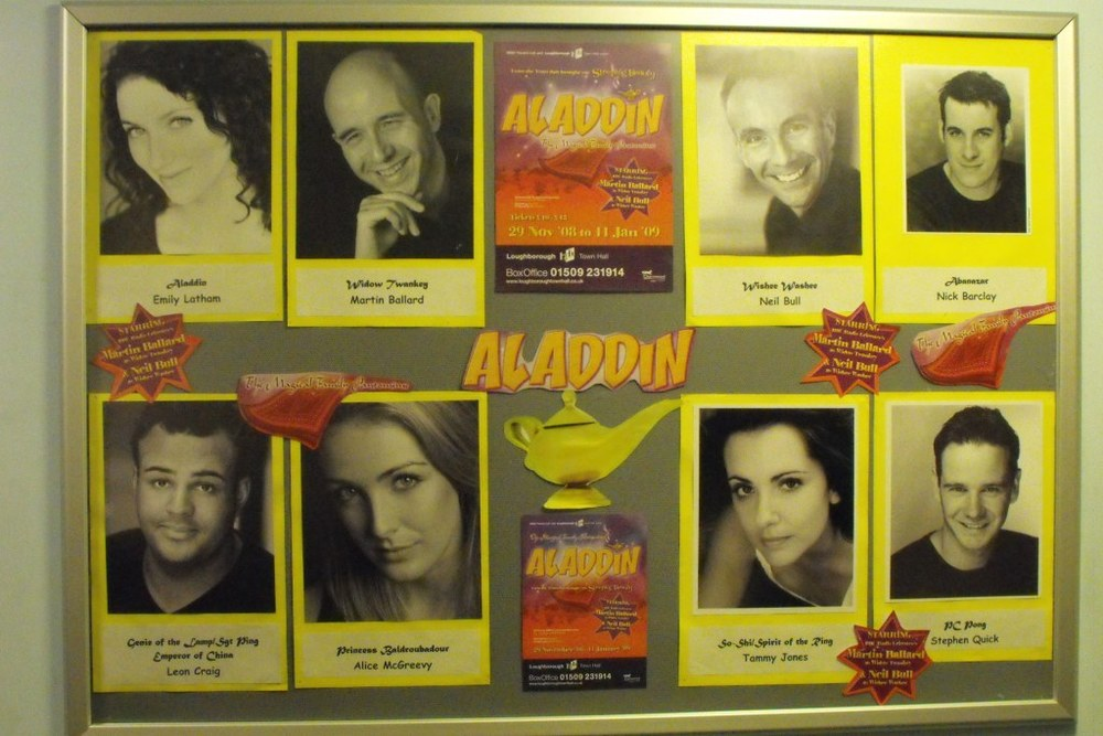 The cast board.