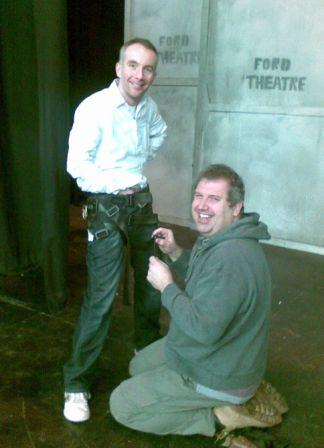 Neil and Martin are rigged into the flying harness...