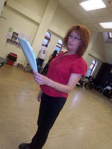 Lynne with her script