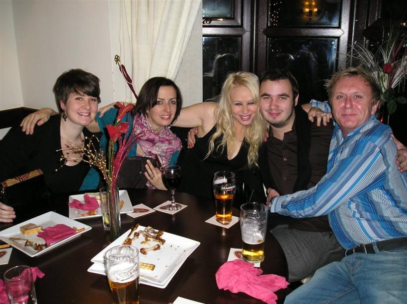 Suzie (ASM), Lucy (choreog), Jess, Matt (MD) and Tony