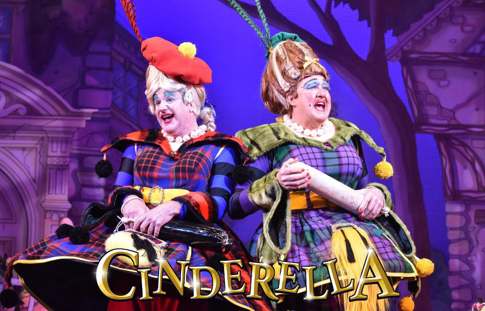 Greg Powrie and Iain Lauchlan as the Ugly Sisters in Cinderella at the Belgrade Theatre - Credit Robert Day.jpg