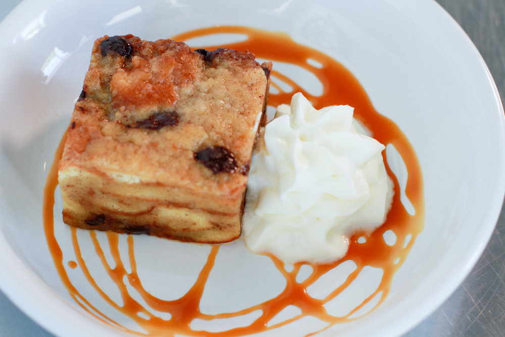 Bread Pudding at Thirsty Mermaid, Ask your server to see the dessert menu