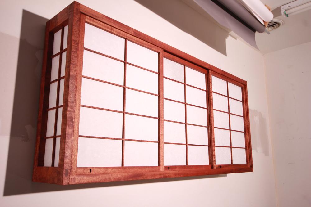 Custom shoji liquor cabinet. Cherry and Japanese paper. Order one   here  .