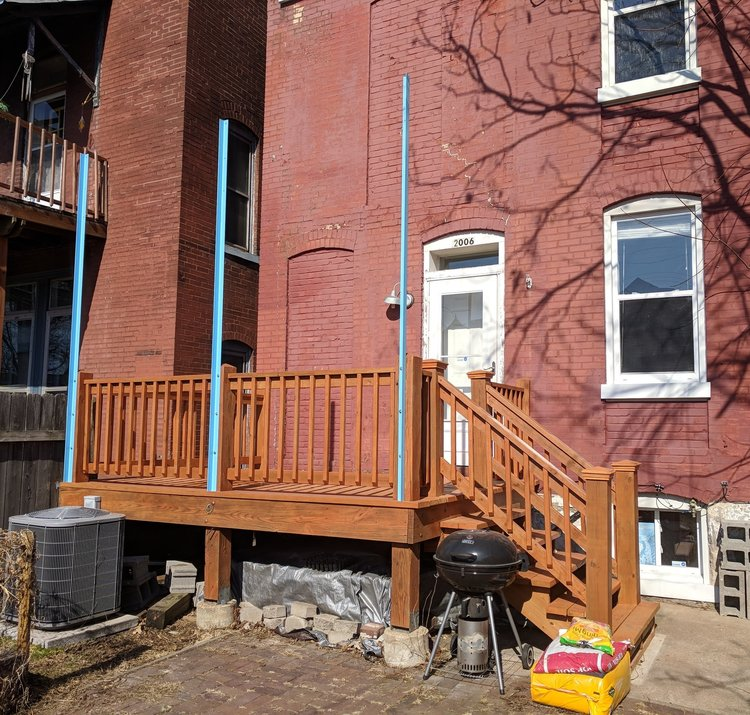 Back deck rebuild at this South City home.