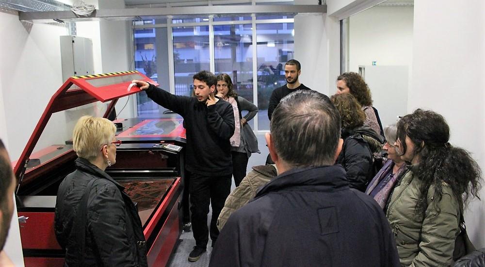 Ξενάγηση εκπαιδευτικών στοMaker Space στο Σεράφειο του δήμου Αθηναίων.